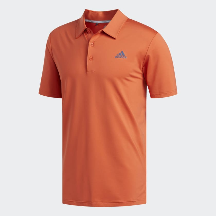 adidas Ultimate 365 Solid Polo Shirt in warm orange