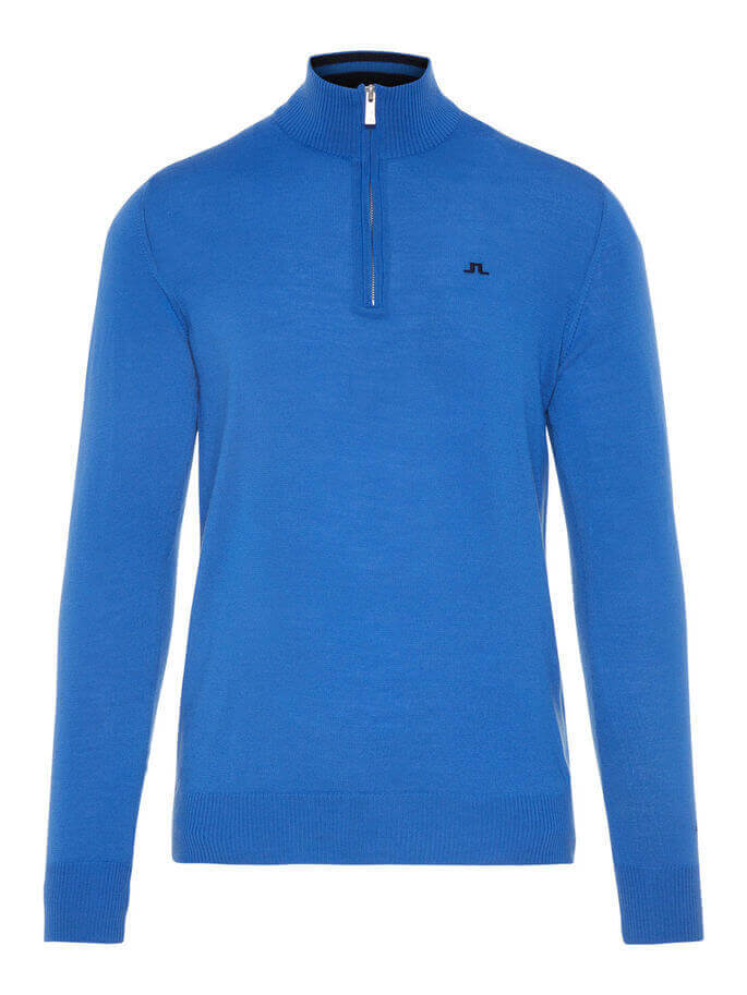 Kian 2.0 Q-Zip sweater from J.Lindeberg in blue