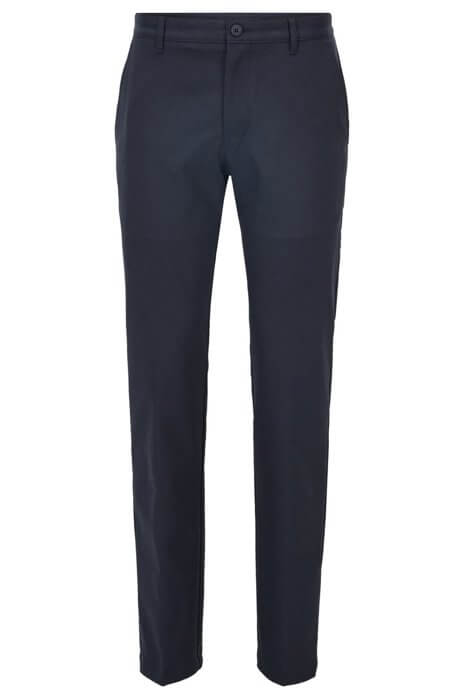 Navy Hakan trousers made from Twill fabric with a contemporary look