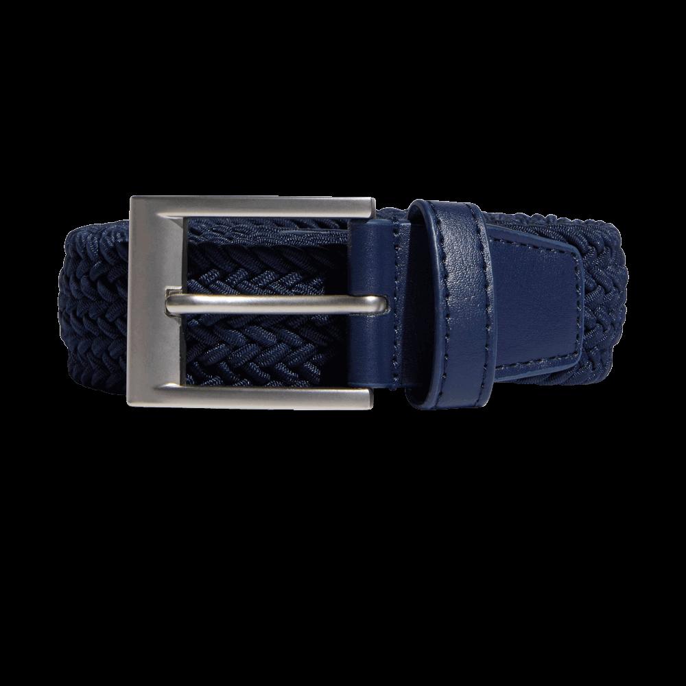 adidas braided stretch belt in navy