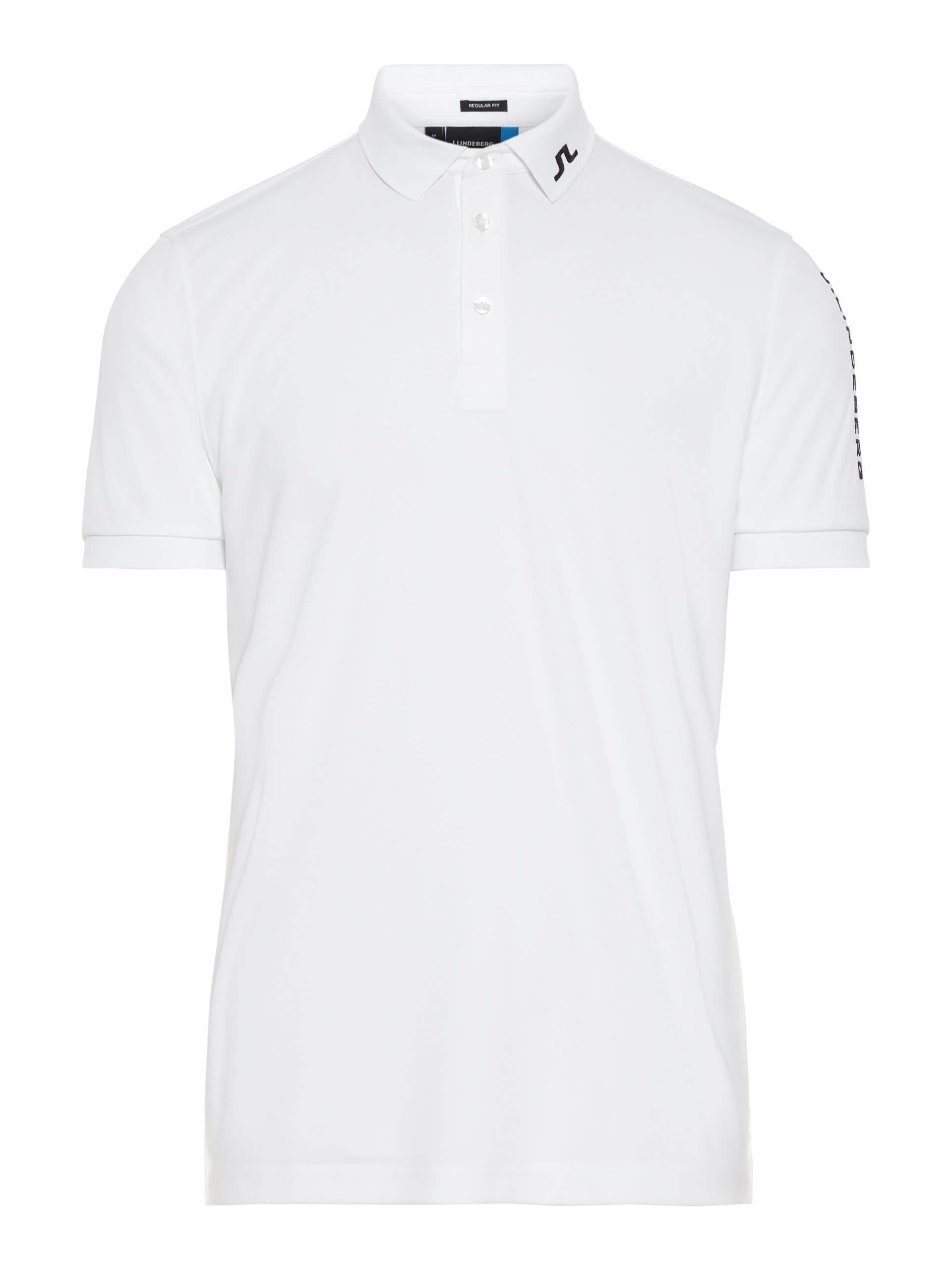 J.Lindeberg Tour Tech Reg Polo TX Jersey in white