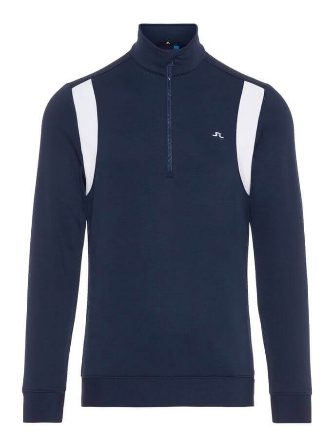J.Lindeberg - FOX Mid Jacket in navy with white bits