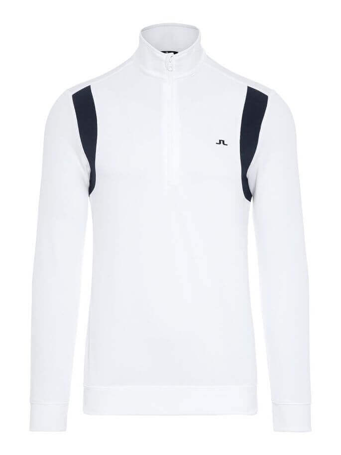 J.Lindeberg - FOX Mid Jacket in white with navy bits