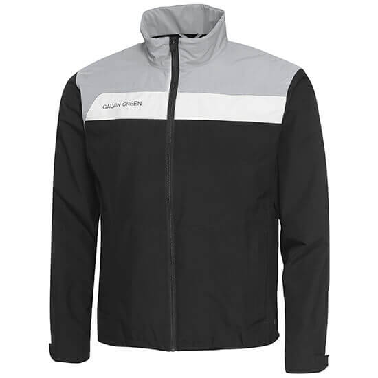Galvin Green - Austin waterproof jacket in black, grey and white