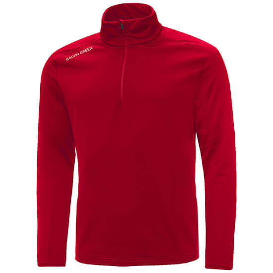 Galvin green - Drake half zip insula in red