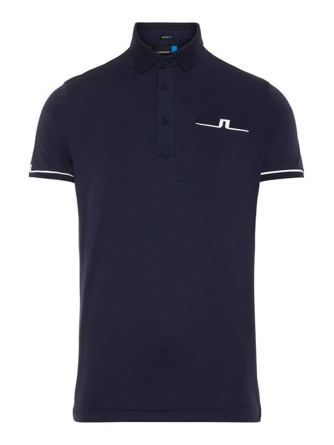 J.Lindeberg - PETR Reg Fit TX Jersey in navy