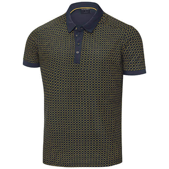 Galvin Green - Monte polo shirt in navy and lemon