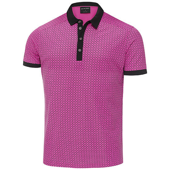 Galvin Green - Monte polo shirt in magenta and black