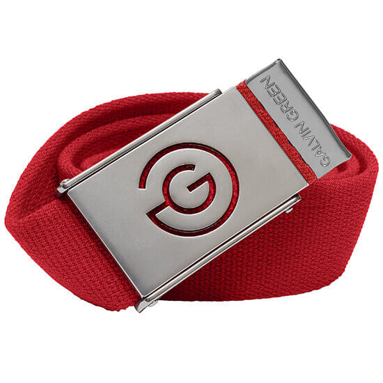Galvin Green - Warren red nylon belt